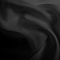 Silk Twill Medium - Black (Dyed To Order)