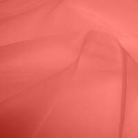 Silk Organza - Coral (Dyed To Order)
