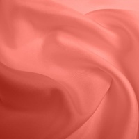 Silk Twill Medium - Coral (Dyed To Order)