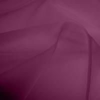 Silk Organza - Damson Purple (Dyed To Order)