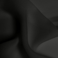 Silk Georgette Double - Dark Grey (Dyed To Order)
