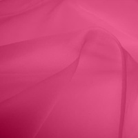 Silk Organza - Hot Pink (Dyed To Order)
