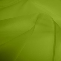 Silk Organza - Lime (Dyed To Order)