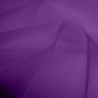 Silk Organza - Mid Purple (Dyed To Order)