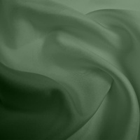 Silk Twill Medium - Moss Green (Dyed To Order)