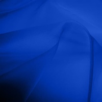 Silk Organza - Royal Blue (Dyed To Order)