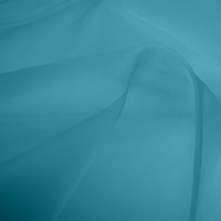 Silk Organza - Sky Blue (Dyed To Order)