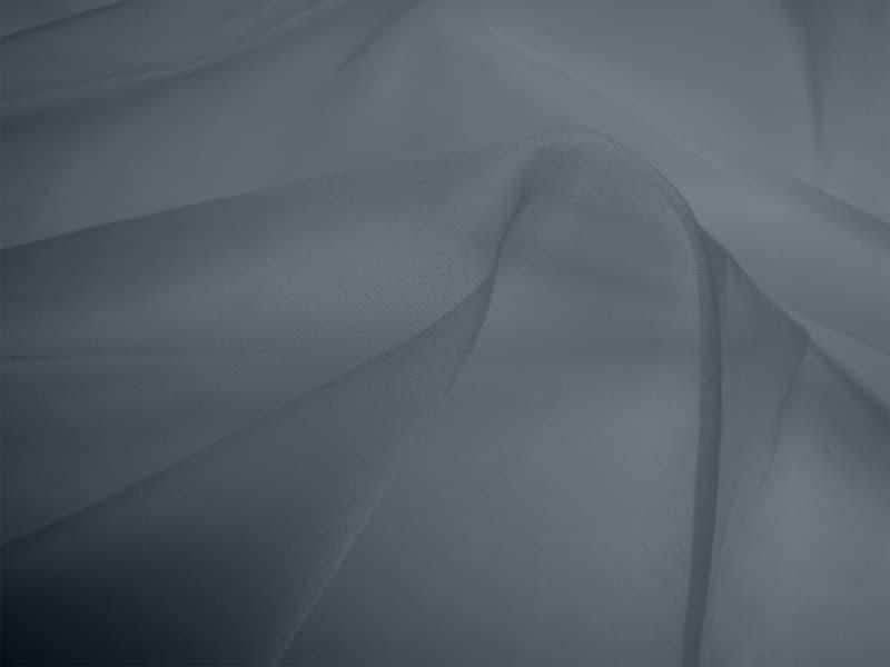 Silk Organza - Slate Grey (Dyed To Order)