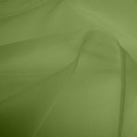 Silk Organza - Spring Green (Dyed To Order)