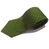 Olive Green Polka Dot Tie