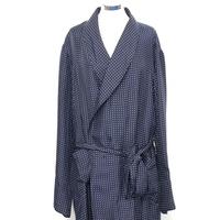 Silk Dressing gown - Polka Dot Navy