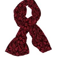 Rose Red - Velvet Devore Scarf