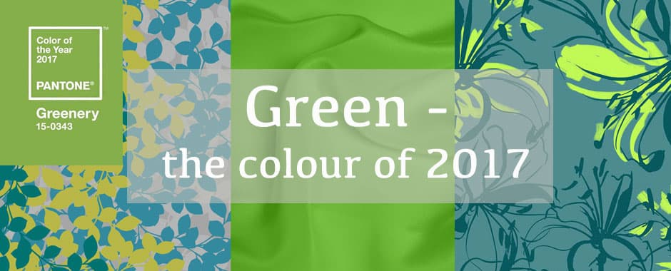 Green - Colour of the year 2017