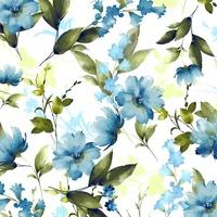 Country Garden Watercolour Blues