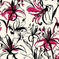 Lilies Cerise and Black