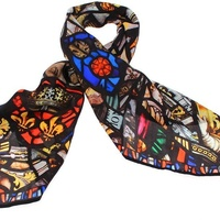 Cloisters Stained Glass Silk Scarf